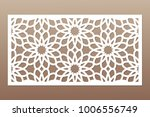 template for cutting. geometric ... | Shutterstock .eps vector #1006556749