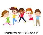 illustration of girls and boys...   Shutterstock .eps vector #100656544