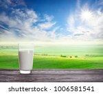 glass of fresh milk against...   Shutterstock . vector #1006581541