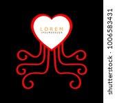 heart logo modern. love logo.... | Shutterstock .eps vector #1006583431