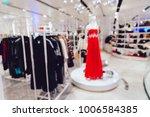 blurred mannequin in red dress...   Shutterstock . vector #1006584385