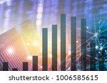 double exposure business... | Shutterstock . vector #1006585615
