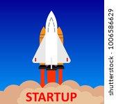 startup rocket concept   for... | Shutterstock .eps vector #1006586629