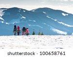 hiker in winter mountains | Shutterstock . vector #100658761