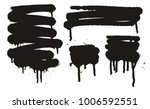 spray paint abstract vector... | Shutterstock .eps vector #1006592551