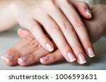 french manicured hand  | Shutterstock . vector #1006593631