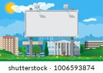 empty urban big board or... | Shutterstock .eps vector #1006593874