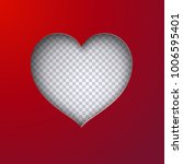 cutted heart shape with... | Shutterstock .eps vector #1006595401