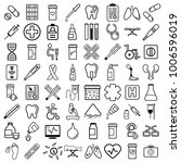 medical equipment simple icon... | Shutterstock .eps vector #1006596019