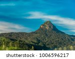 The sacred Sri Pada mountain also known as Adam