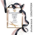 certificate of achievement... | Shutterstock .eps vector #1006599304
