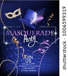 masquerade party invitation... | Shutterstock .eps vector #1006599319