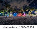ocean drive street with... | Shutterstock . vector #1006602154