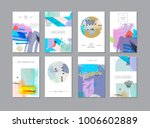 set of creative universal... | Shutterstock .eps vector #1006602889