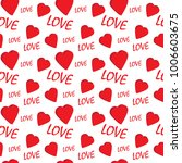 valentine seamless pattern with ... | Shutterstock .eps vector #1006603675