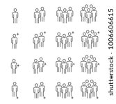 people icons line work group... | Shutterstock .eps vector #1006606615