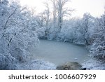 the river was covered with ice  ... | Shutterstock . vector #1006607929