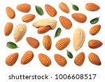 almonds isolated on white... | Shutterstock . vector #1006608517