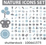 nature icons set  vector | Shutterstock .eps vector #100661575