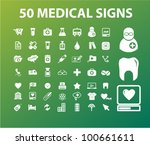 50 medical   health icons signs ... | Shutterstock .eps vector #100661611