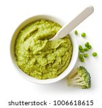 green peas and broccoli baby... | Shutterstock . vector #1006618615