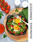 morning breakfast  eggs with...   Shutterstock . vector #1006625215