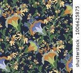 vintage vector ditsy flower... | Shutterstock .eps vector #1006625875