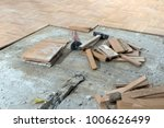 removing old parquet. home... | Shutterstock . vector #1006626499