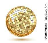 golden disco ball on white... | Shutterstock .eps vector #1006627774