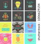 set of summer color hand... | Shutterstock .eps vector #1006629154