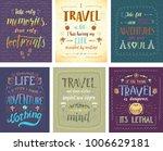 set of travel posters. vector... | Shutterstock .eps vector #1006629181