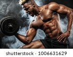 muscular young fitness sports... | Shutterstock . vector #1006631629