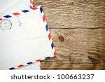 Old Envelope On Wooden...