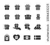 vector image of set of gift... | Shutterstock .eps vector #1006633225