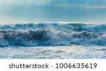 storm at sea. stormy sea at...