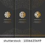 vector emblem. elegant  classic ... | Shutterstock .eps vector #1006635649