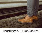 mans legs close up stand at the ... | Shutterstock . vector #1006636324