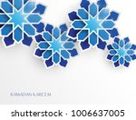 greeting card with intricate... | Shutterstock .eps vector #1006637005