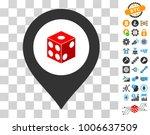 dice map marker icon with bonus ...