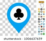casino map marker icon with...