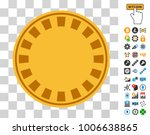 casino chip pictograph with...