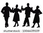 silhouettes of folk dancers... | Shutterstock .eps vector #1006639039
