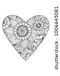 heart with flower pattern.... | Shutterstock .eps vector #1006645081