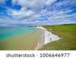 seven sisters cliffs in sussex. ...