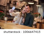 a couple is having a date. they ... | Shutterstock . vector #1006647415