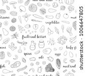 black and white seamless...   Shutterstock .eps vector #1006647805