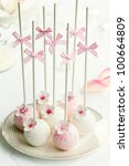 wedding cake pops | Shutterstock . vector #100664809
