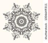 floral mandala. decorative... | Shutterstock .eps vector #1006649311