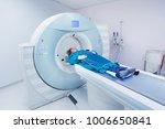 female patient undergoing ct  ...   Shutterstock . vector #1006650841