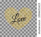 golden heart shape. vector... | Shutterstock .eps vector #1006651615